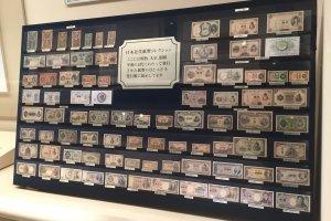 Paper money used in Japan