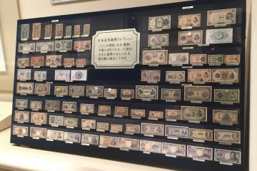 Paper money used in Japan