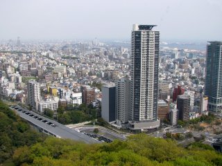 The view to Kobe from ropeway cabin