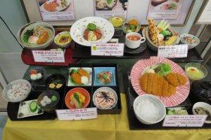 Restaurant display of replica food at Aurora Mall, Yokohama