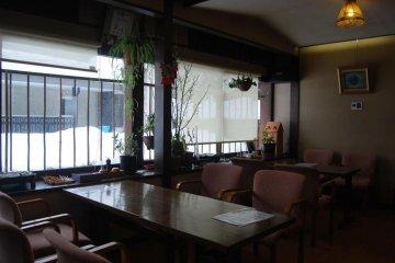 Inside of Orizuru restaurant in Kaminoyama