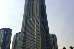 Landmark Tower seen from the sea