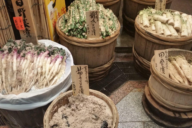 Tsukemono pickles, a Kyoto specialty