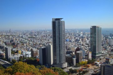<p>View of Shin-Kobe area from the ropeway</p>