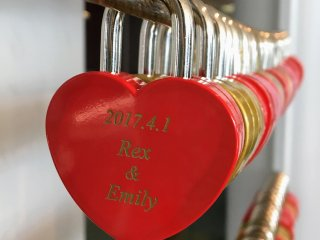 Visit with a loved one and engrave a lock to commemorate your visit