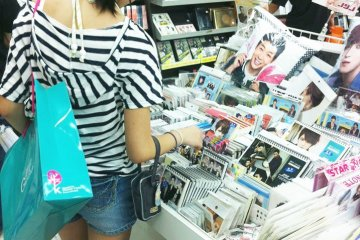 Inside a K-pop store