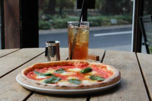 Pizza and drink set