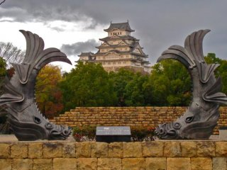 Himeji Castle before the renovation started