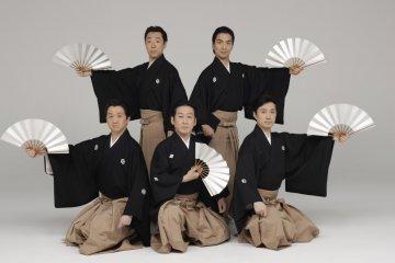 The performing Kabuki troup
