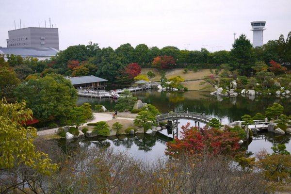 Vườn Sankeien gần sân bay Hiroshima