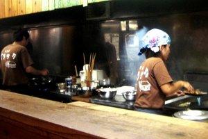 The Barakku Bistro and Izakaya in Aharen Tokashiki-son Island Okinawa has a busy husband and wife team
