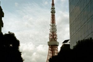 The Moon and Tokyo Tower