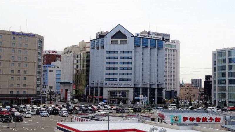 ด้านหน้าของโรงแรมมายสเตย์ อุตซึตโนะมิยะ