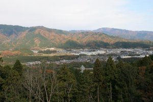 Sekigahara Battlefieild from the traitor, Kobayakawa's war camp on Mt. Matsuo