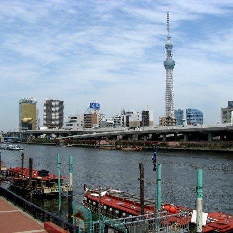 Прогулки по Токио: Набережная реки Сумида