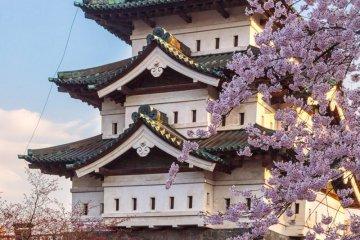 With Hirosaki Castle