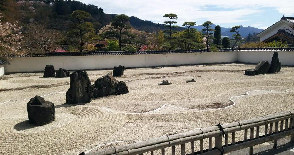 The biggest Japanese rock garden (zen garden) in the east Asia, at Kozenji Temple