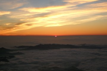 To watch the rising sun get bigger above the clouds was a truly unforgettable experience