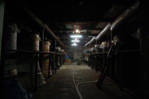 江戸時代の醸造所。馬場本店にて。