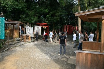 The Ishigami Shrine is popular amongst tourists who come to pray for protection.