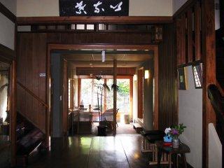 The hostel's entrance