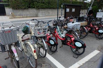 สามารถปั่นจักรยานมาที่สวน