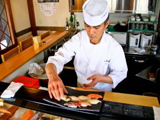 Some of Japan's best and freshest sashimi is on offer in Otaru