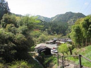 Tsumago is a hilly town
