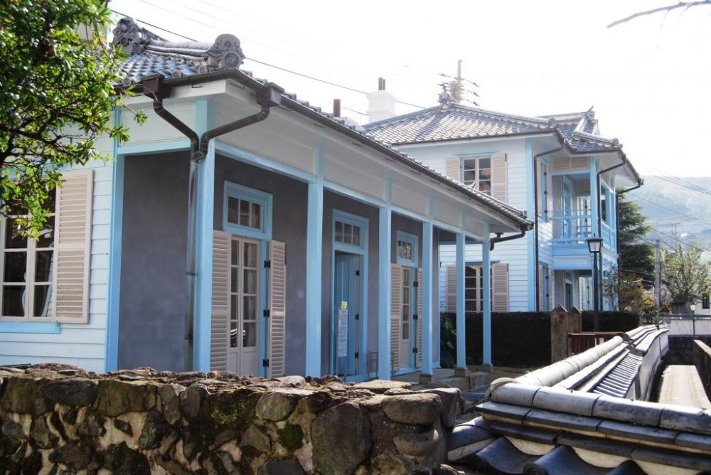There are still seven Western-style houses on Hollander Slope in Nagasaki