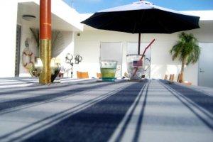 The days are long and breezy at Half Time Pension Dive Shop and Bar at Aharen Beach Tokashiki Kerama Islands Okinawa