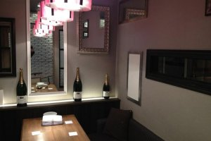 One of the private rooms available at Briccone