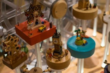 Music boxes in the Otaru Music Box Museum store.