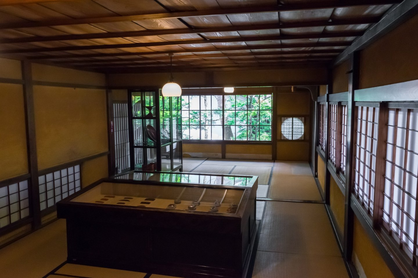 Inside the Kusakabe Mingei-kan.