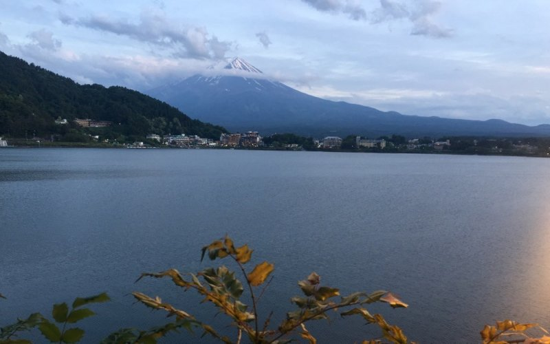 Mt. Fuji & Lake Kawaguchi, as seen from the path