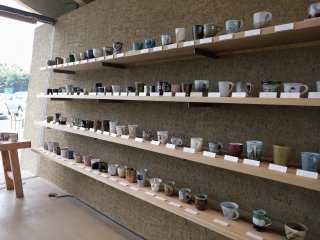 Beautiful cups crafted by local potters