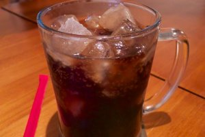 Sweet cherry Coca Cola
