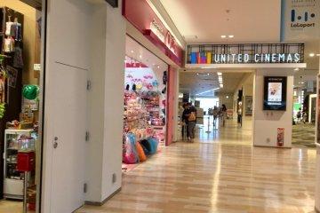 Third floor shopping & United Cinemas