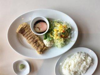 Delicious gyukatsu lunch at Kia Ora Steakhouse