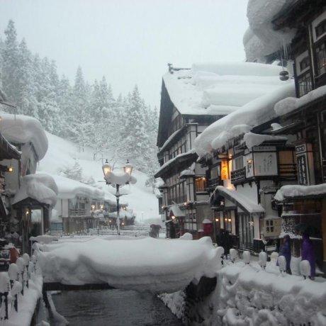 Ginzan Onsen in Winter