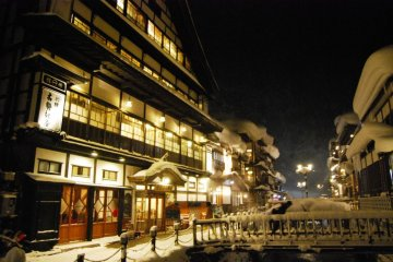 Who can resist a night walk at Ginzan Onsen