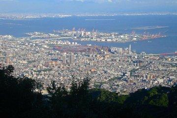 Osaka view during the day, Mount Maya