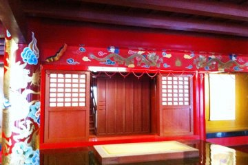 Inside the Shuri Castle a world heritage site in Naha Okinawa