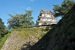 It is a steep climb to the main keep