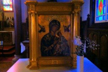 Религиозная икона из Франции