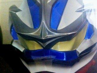 Blue and Silver Kamen Rider Cosplay Helmet at Akita Design Hub and Handicraft Center