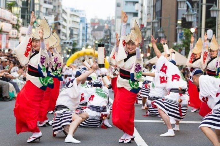 Khiêu Vũ Tại Lễ Hội Koenji Awaodori Ở Tokyo