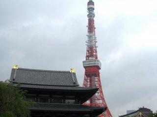 Станция Хамаматсучо. Храм Зодзидзи и Токийская башня