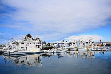 항구 근처에 있는 이 식당은 신선한 해산물을 제공한다