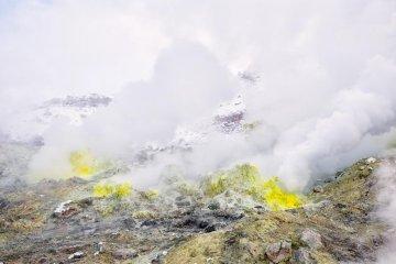 Sulphur stones close to Lake Kussharo
