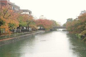 Estando localizado na zona do santuário Heian, poderá desfrutar de um passeio agradável à beira dos canais de Quioto.